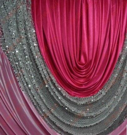 1p širine 1m led svile Vjenčanje događaj stol stube suknja swag / - Za blagdane i zabave - Foto 2