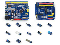 ATMEGA328P MCU Development Board Compatible With UNO R3 IO Expansion Shield Sensors Pack UNO PLUS Package