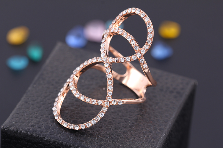 Infinity Ring with Crystals