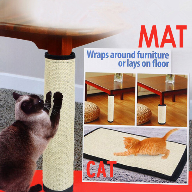 Cat Scratching Post Natural Sisal Mat Toy For Cats Catnip Tower Climbing Tree Scratch Pad