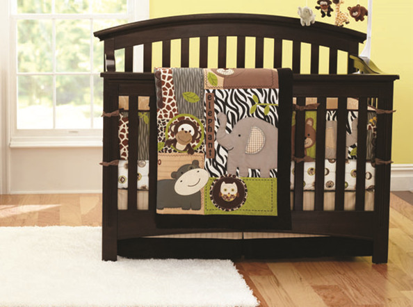 Promotion! 7pcs Embroidery 100% Cotton Baby Nursery Crib Bedding Set Baby Bumper ,include (bumpers+duvet+bed cover+bed skirt)