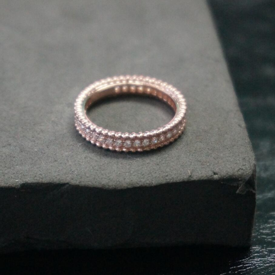 Brand new original 925 sterling silver full  rose gold synthetic diamant wedding love ring bands (DFE)Brand new original 925 sterling silver full  rose gold synthetic diamant wedding love ring bands (DFE)