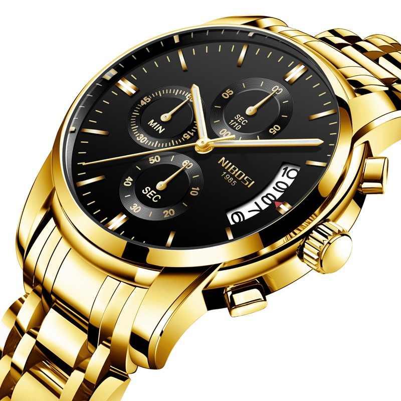 9bbb6cdd21ef Reloj Masculino NIBOSI relojes para hombre marca de lujo vestido de marca  famosa