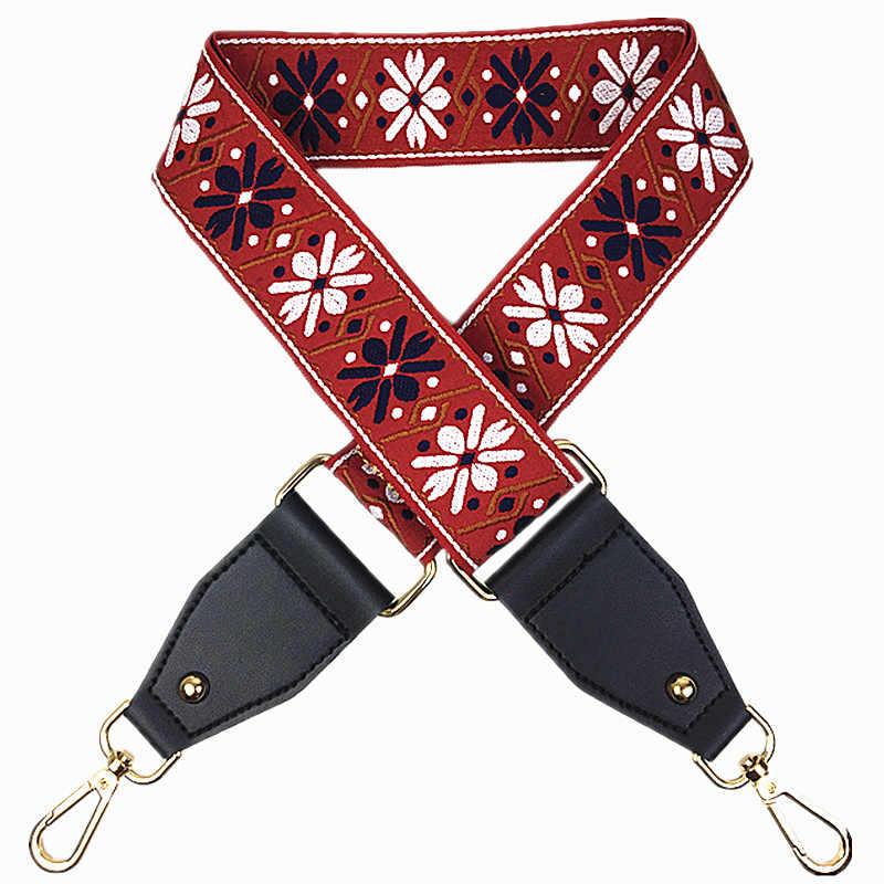 Новые холщовые лямки для сумки через плечо Красочные сумочки ручки для сумок ремень шикарный легко застёгивающийся сумка аксессуары Q0158