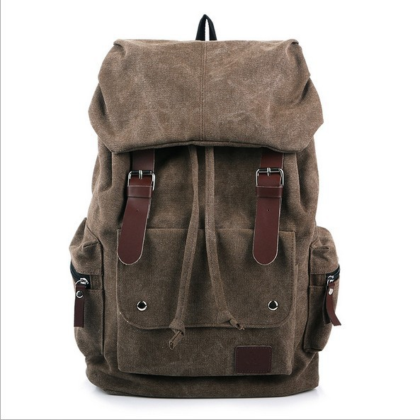 Canvas Backpacks For Teenage Girls Bagpack Canvas Rucksack School Bags Bookbags Sac Shoulder Knapsacks Men Travel Bag