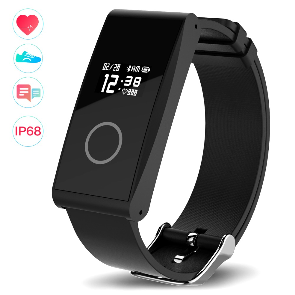 LERBYEE ultra-thin Smart Band Sleep Monitor Fitness Tracker Heart Rate Monitor IP68 waterproof Activity Tracker for android/IOS
