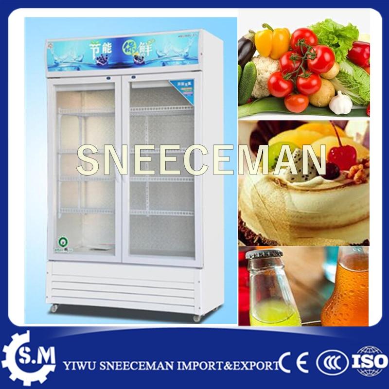 2 Doors 600L Vertical Beverage Cooler Cabinet For Commercial Use