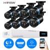 H VIEW 8ch CCTV Surveillance Kit 8 1080P Cameras Outdoor Surveillance Kit IR Security Camera Video