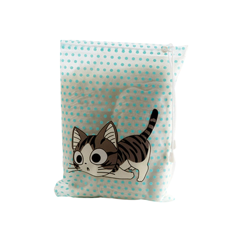 New-Kawaii Cartoon Animals Dots Waterproof Drawstring Storage Bag Travel Organizer Bag Drawstring Sorting Bag For Clothes