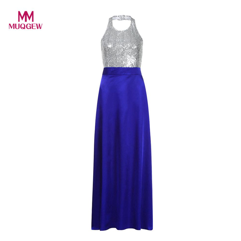 Women Formal Prom Party Ball Gown dress Halter Long Dresses Vestido de noite feminino Vestido de