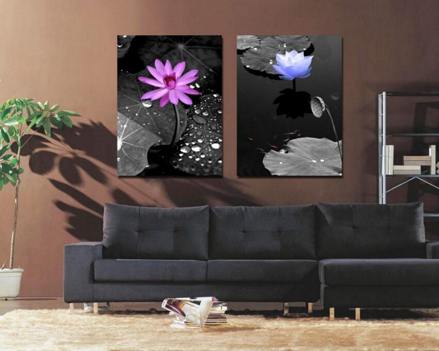 Decorative Items For Living Room. 2pieces hawthorn raindrop living room art decor oil painting scenery canvas  best Unique decorative items Drop
