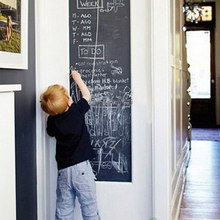 BornIsKing 45x200cm Chalk Board Blackboard Stickers Vinyl Draw Decor Mural Decals Art Chalkboard Wall Sticker for Kids Rooms(China)