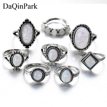 Wedding Rings Set for Man and Woman Vintage Knuckle Women Geometric Pattern Flower Party Bohemian Jewelry