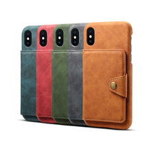 Newisdom Cas For iPhone xs max Flip Leather cover Phone  Wallet Card Slots Cases X case XR 8 Plus 7 luxury bronw