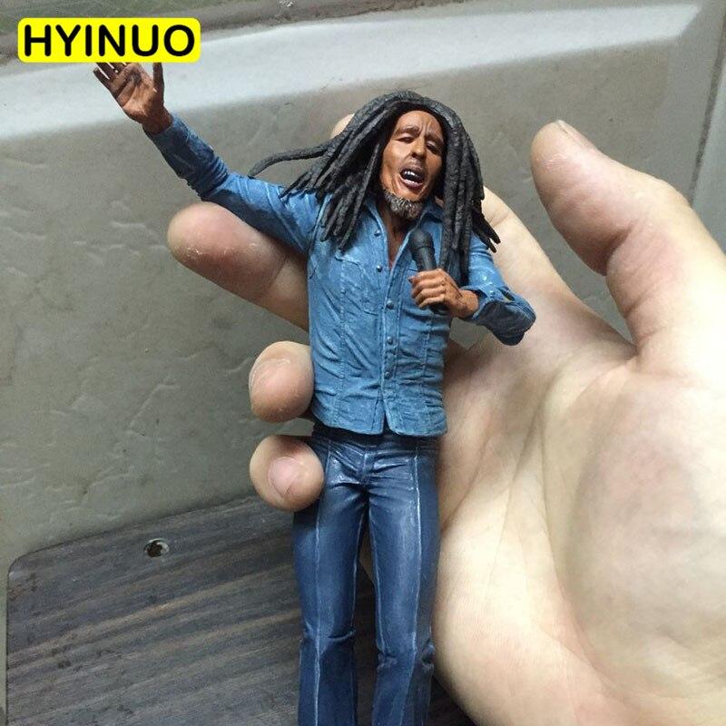 18cm Scale The Originator Of Reggae Music Musician Bob Marley Hand Model Doll PVC Action Figures Doll