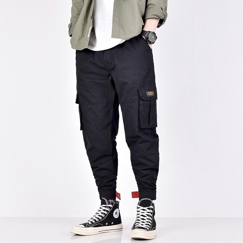 Fashion Streetwear Hip Hop Joggers Pants Men Loose Fit Camouflage Military Army Pants Slack Bottom Big Pocket Harem Trousers