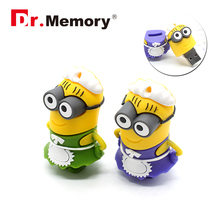 USB Flash Drive 64GB Minions Anime Pendrive 32GB Memory Stick 4GB 8GB 16GB