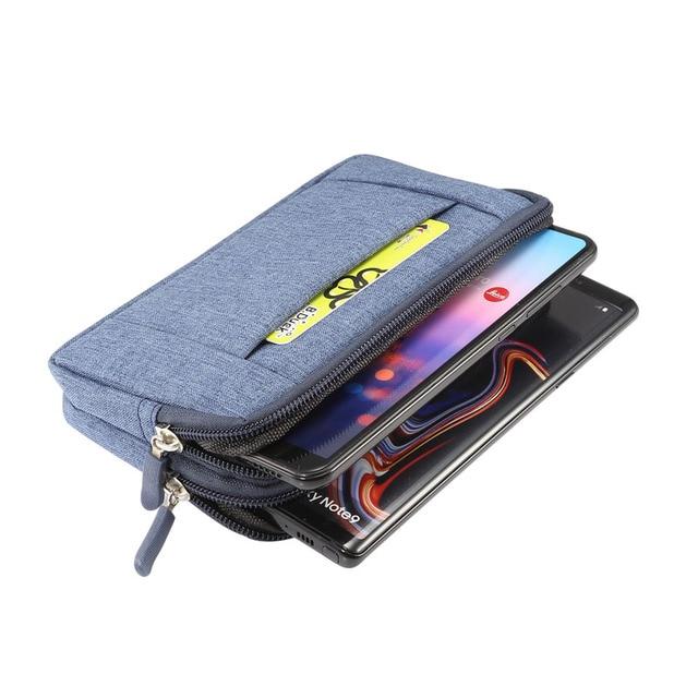 Phone Pouch For xiaomi redmi note 5 pro mi max 3 mi8 a2 PocoPhone F1 redmi 6X 6 5 4x Belt Clip Cowboy Cloth Casual Waist Bags 6