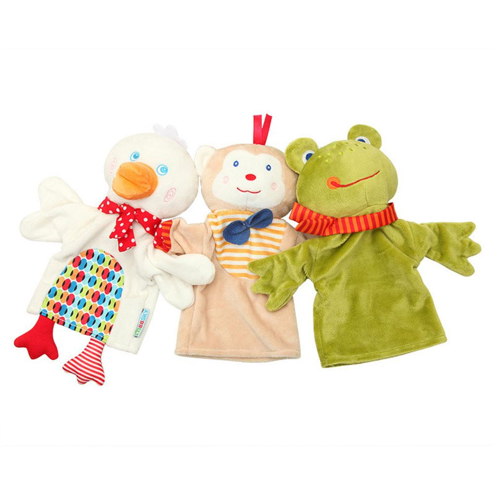 Dolls & Stuffed Toys Toys & Hobbies Cute Cartoon Animal Hand Puppet Monkey Frog Duck Plush Toy Doll Baby Comforting Towel High Quality