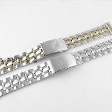 19 мм/20 мм PRC200 T17 T461 T014430A T014427A T014410A ремешок для часов мужские полосы из нержавеющей стали браслет ремешок