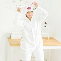 6301ed4754 JINUO Flannel Animal Pajamas Unisex Adult Pajamas Winter Cute Cartoon Animal  Rabbit Pig Onesie Pajamas Jumpsuits