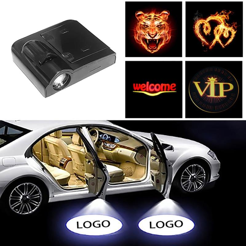 2x Wireless LED Car Door Light Car Laser 2 St Louis Cardinals Projector Lamps