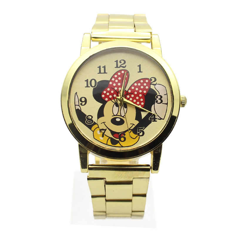 5820380fdde 2019 New Fashion Gold wristwatches quartz watch women rhinestone dress girl  watches mickey watch kids child