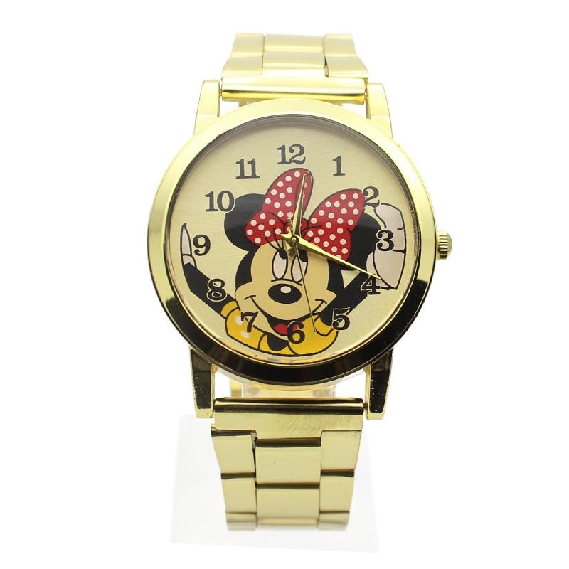 2019 New Fashion Gold Wristwatches Quartz Watch Women Rhinestone Dress Girl Watches Cool Watch Kids Child Watch Metal Strap