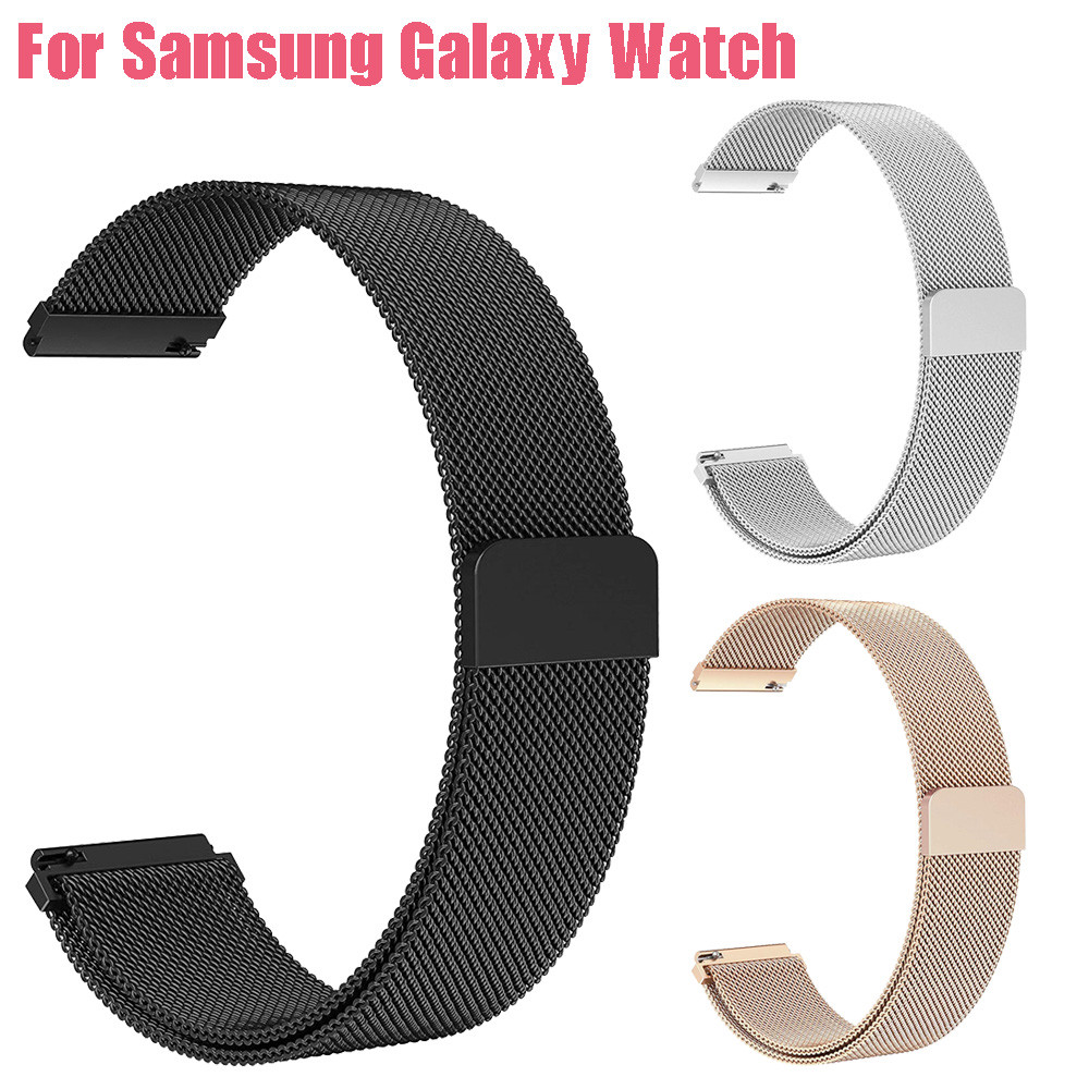 Luxury Milanese Magnetic Loop Stainless Steel Metal Bracelet Wristband Strap For Samsung Galaxy Watch 42mm   8.22 samsung galaxy smartwatch rose gold