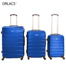 """ORLACS, семейный костюм, чемодан на колёсиках с замком, Спиннер, легкий, высокопрочный, для переноски, чемодан для путешествий, 2"""" /24""""/2"""" A30"""