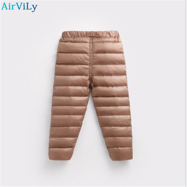 2144585e58187 Girls Pants Boys Trousers Winter Children Clothing 90% White Down Thick  Warm Kids Pants Baby Leggings Girl Autumn Kids Clothes