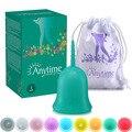 100 pcs Bonito Atacado Reutilizável Medical Grade Silicone Menstrual Cup Higiene feminina Produto Senhora Menstruação Copo AMC100GR