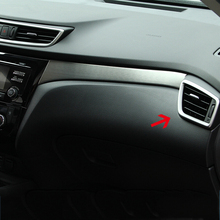 цена на For Nissan X-Trail XTrail T32 Rogue 2014-2018 car air conditioning condition Outlet Vent frame warm dashboard cover trim 4Pcs