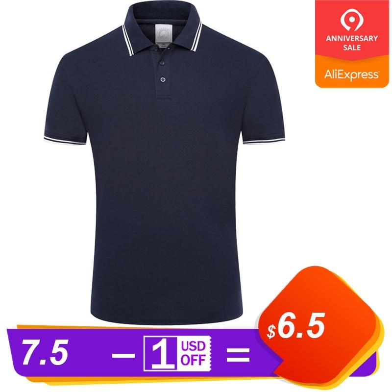 Summer   polo   shirt men Cotton   Polo   Shirts Solid Color Short Sleeve Slim Breathable Men's streetwear Male Tops XXXL clothes 2019