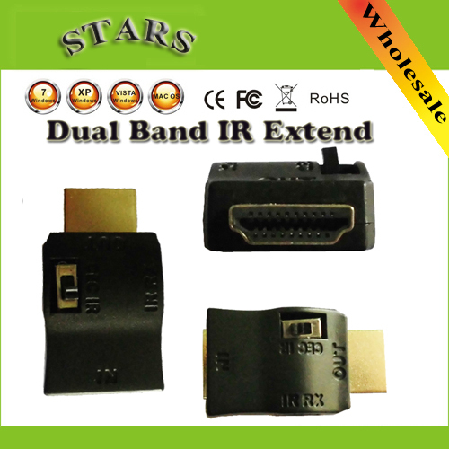 Dual Band IR Siginal Extend IR Extender & Receiver Over HDMI for Remote Control HDMI Cable IR A/V Device,Wholesale Free Shipping