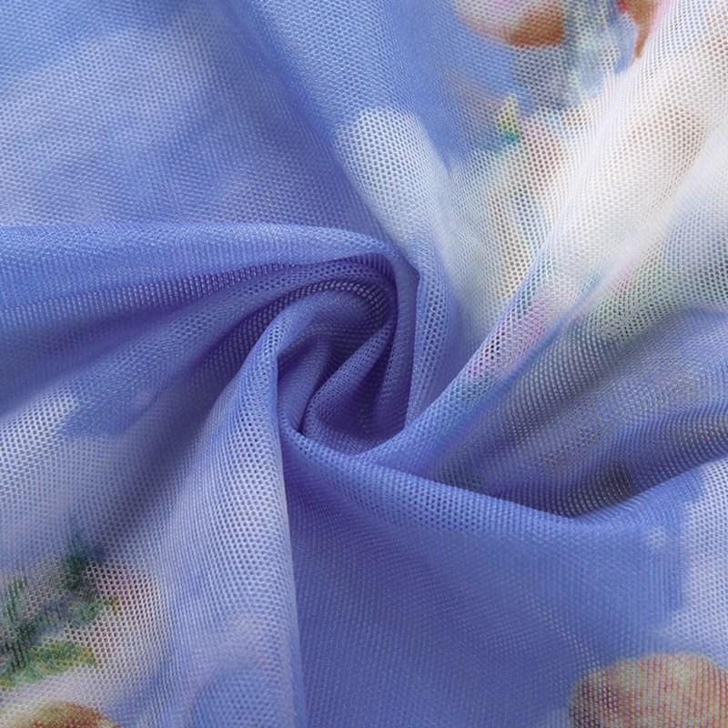 2019 Fashion Angel Printed Short Sleeve T Shirt Half High Collar Dew Navel Mesh T Shirt Short Slim Bottoming Shirt Sexy Crop Top in T Shirts from Women 39 s Clothing