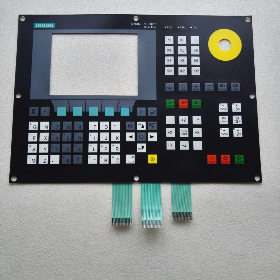 SINUMERIK 802S 6FC5500-0AA00-1AA0 802S base line Membrane keypad for CNC Panel repair~do it yourself, Have in stock