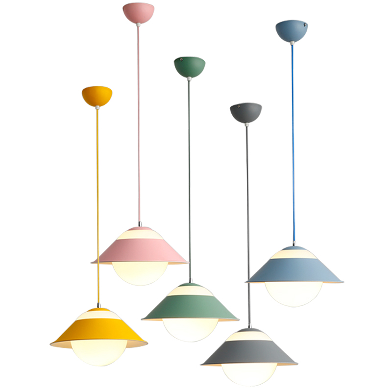Macaron Nordic post modern restaurant pendant lights colorful personality three lamps combo droplight foyer bedroom hanging lampMacaron Nordic post modern restaurant pendant lights colorful personality three lamps combo droplight foyer bedroom hanging lamp