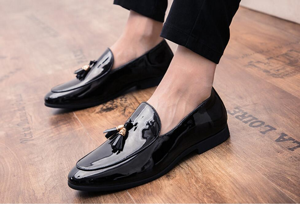 Shoes Formal Shoes Men Rivet Dress Italian Shoes Outdoor Slip On Men Mesh Leather Moccasin Glitter Formal Male Shoes Pointed Toe Shoes For Men P4