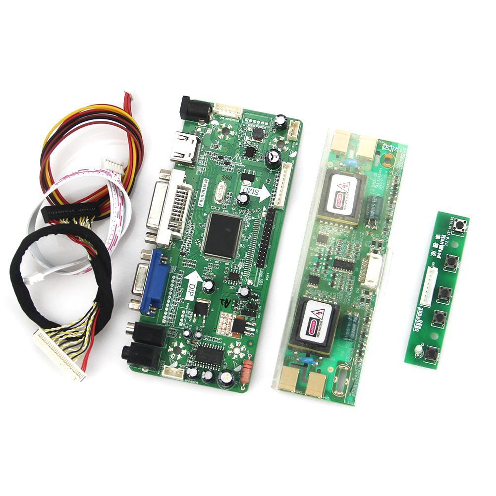 M.NT68676 LCD/LED Controller Driver Board(HDMI+VGA+DVI+Audio) For M190EN01 LM190E08 LVDS Monitor Reuse Laptop 1280*1024 m nt68676 2a universal hdmi dvi vga audio lcd led controller board lvds diy reuse laptop for raspberry pi
