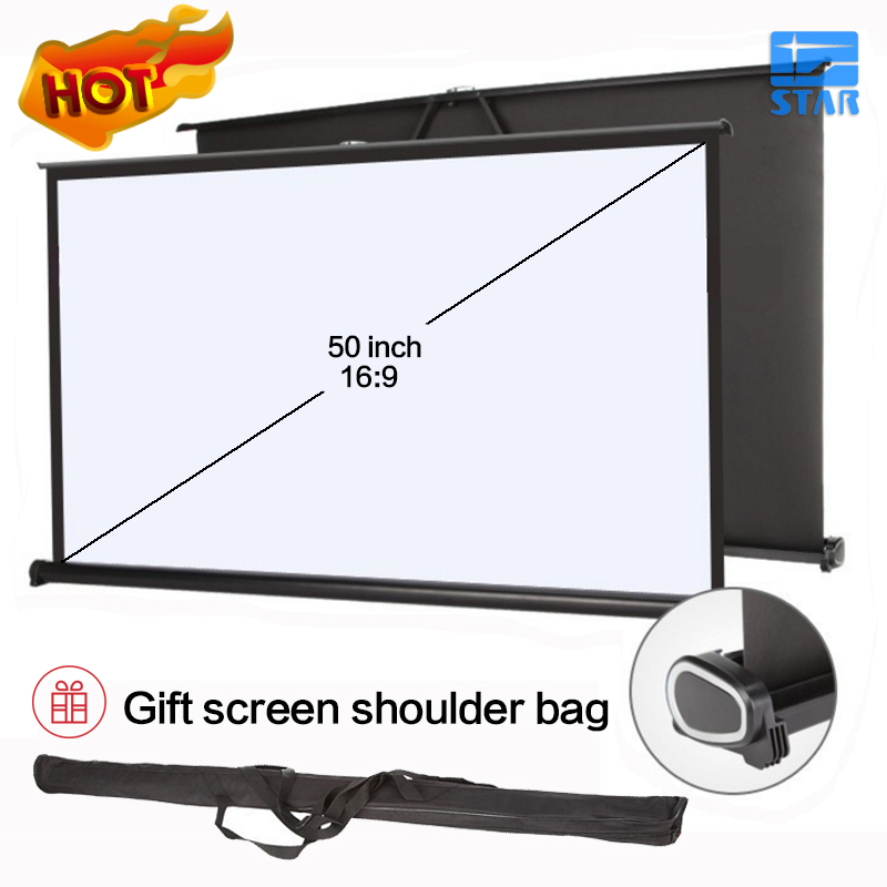 50 inch laptop expandable screen projector desktop screen for Miroir 50in projector review