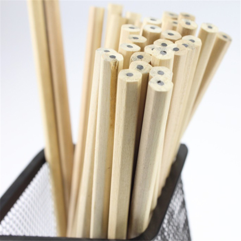Special Wholesale Log Colored Pencils Non-toxic Environmental  HB Pencil Student Articles Without LOGO Advertising Pen