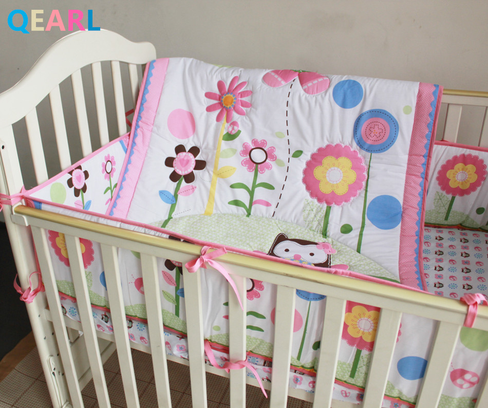 6 Pieces Baby Bedding Set Embroidery