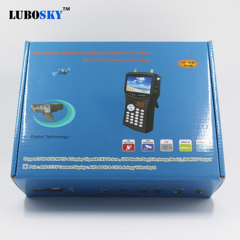 New Satellite Finder full hd Support DVB S S2 MPEG 4 standard and free channel analysis LUBOSKY SK2055H in Satellite TV Receiver from Consumer Electronics