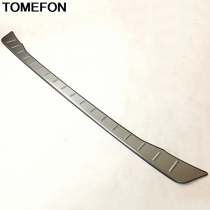 TOMEFON For Toyota C HR CHR 2016 2017 2018 Rear Bumper Protector Step Panel Sill Plate Trunk Garnish Cover Trim Stainless Steel
