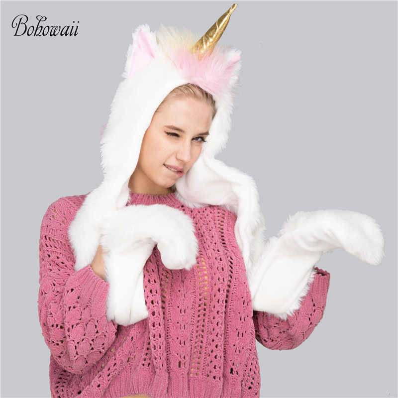 a36890edb17 Detail Feedback Questions about BOHOWAII Unicorn Hat Scarf Set for ...