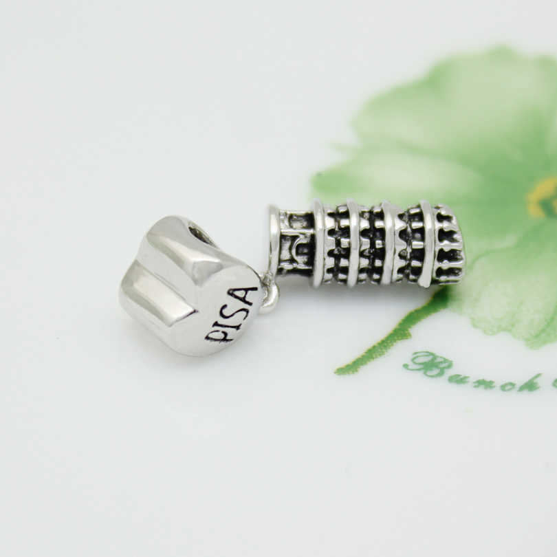 d8b5db5e8 ... fashion jewelry DIY charm, European and American style Italian Pisa  leaning tower pendant beads Fit ...