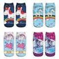 2017 Funny Printed Emoji Unicorn Socks Overal Women Cute Ankle Short Cartoon 3d Print Socks Lot 10 Pairs Wholesale Kawaii Calze