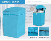 Thicken Oxford Cloth Washing Machine Cover Waterproof Sunscreen Protective Case Zipper Paste Style Top Opening Lid