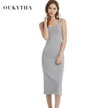 19cfb8bf2cba8b8 Женское летнее стильное платье для фитнеса из хлопка с круглым вырезом,  длинное сексуальное облегающее платье